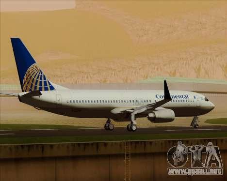 Boeing 737-800 Continental Airlines para la vista superior GTA San Andreas