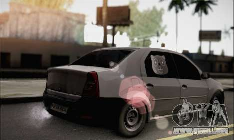 Dacia Logan 2009 para GTA San Andreas left