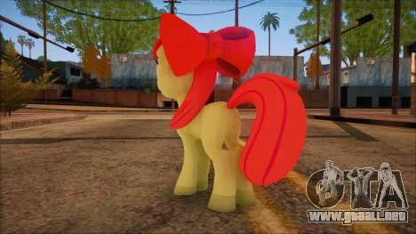Applebloom from My Little Pony para GTA San Andreas segunda pantalla
