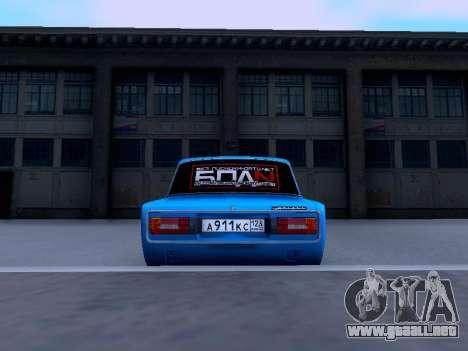 VAZ 2106 para GTA San Andreas vista hacia atrás