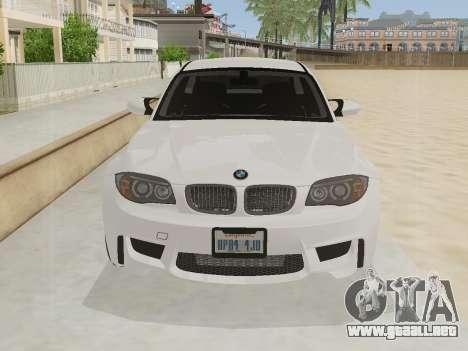 BMW 1M 2011 para GTA San Andreas left