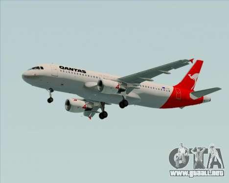 Airbus A320-200 Qantas para las ruedas de GTA San Andreas