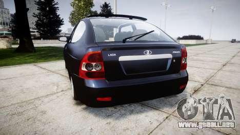 ВАЗ-21728 LADA Priora Coupe para GTA 4 Vista posterior izquierda