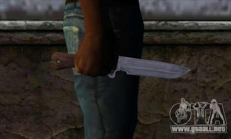 Daryl Knife from The Walking Dead para GTA San Andreas tercera pantalla