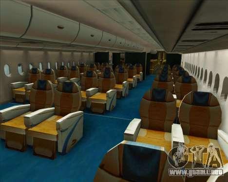 Airbus A380-800 Air Canada para las ruedas de GTA San Andreas