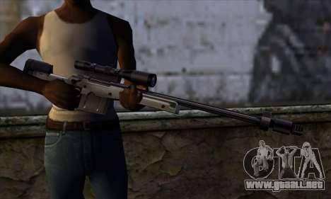 AW50 from Far Cry para GTA San Andreas tercera pantalla