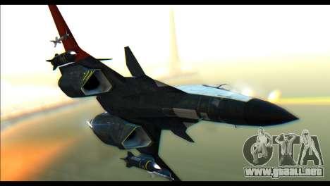 ADFX-02 Morgan para GTA San Andreas vista posterior izquierda