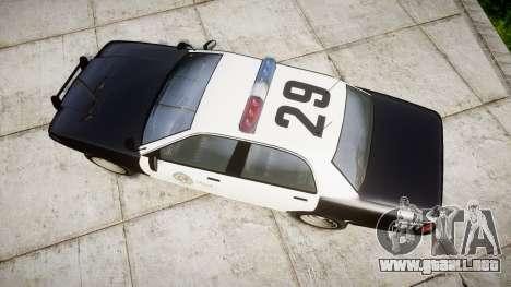 GTA V Vapid Police Cruiser Rotor para GTA 4 visión correcta