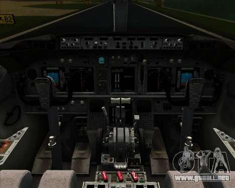 Boeing 737-800 Continental Airlines para GTA San Andreas interior