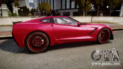 Chevrolet Corvette Z06 2015 TireMi2 para GTA 4 left