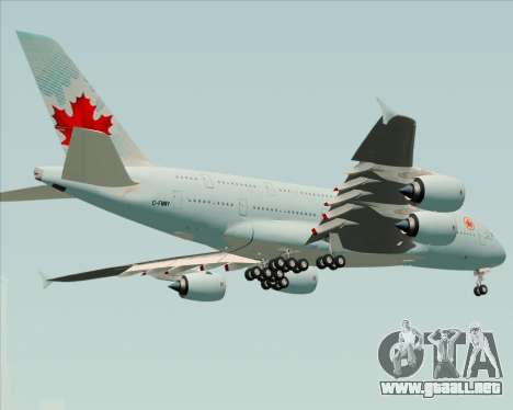 Airbus A380-800 Air Canada para la visión correcta GTA San Andreas