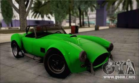 Shelby Cobra V10 TT Black Revel para visión interna GTA San Andreas
