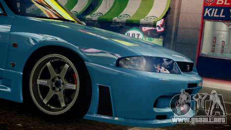 Nissan Skyline BCNR33 JUN VER para GTA 4 Vista posterior izquierda