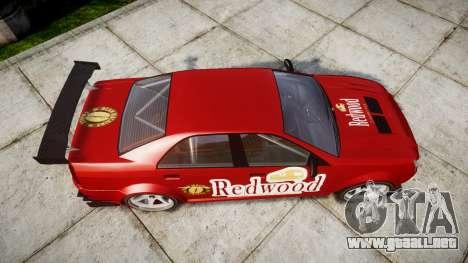 Albany Presidente Racer [retexture] Redwood para GTA 4 visión correcta