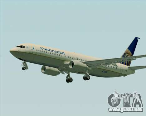 Boeing 737-800 Continental Airlines para GTA San Andreas left