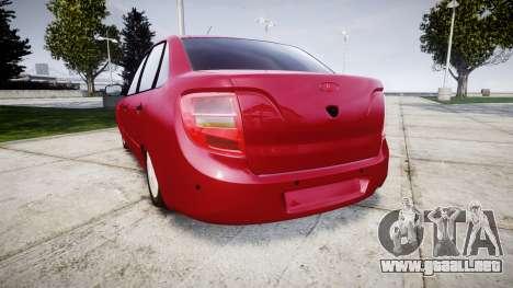 VAZ 2190 para GTA 4 Vista posterior izquierda