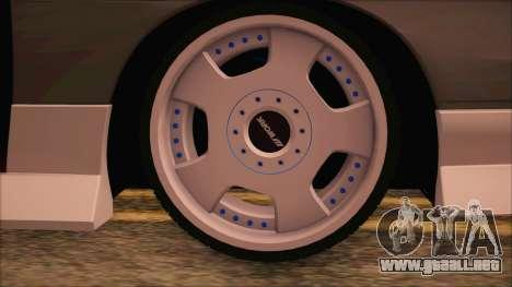 Nissan 240SX para GTA San Andreas vista posterior izquierda