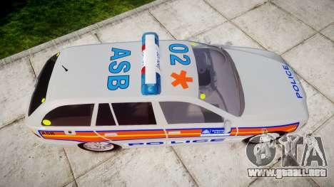 BMW 525i E39 Touring Police [ELS] JSARVV para GTA 4 visión correcta