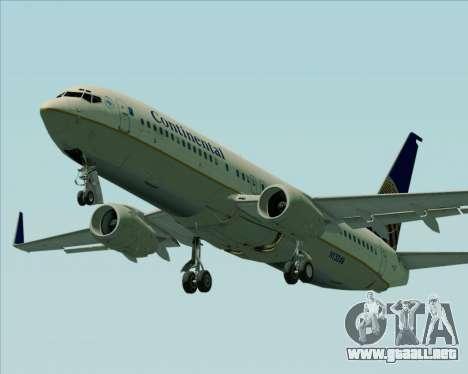 Boeing 737-800 Continental Airlines para el motor de GTA San Andreas