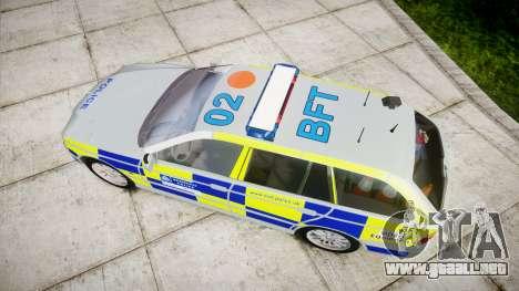 BMW 525i E39 Touring Police [ELS] BTV para GTA 4 visión correcta