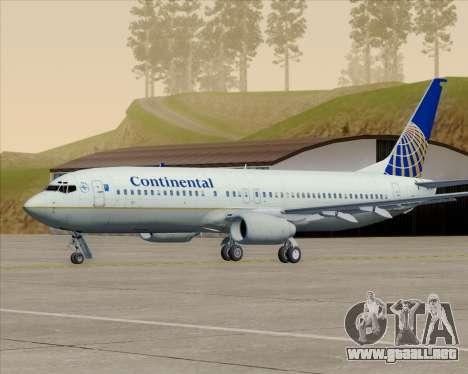 Boeing 737-800 Continental Airlines para las ruedas de GTA San Andreas