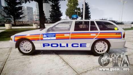 BMW 525i E39 Touring Police [ELS] JSARVV para GTA 4 left