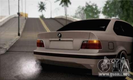 BMW M3 E36 Bosnia Stance para GTA San Andreas vista posterior izquierda