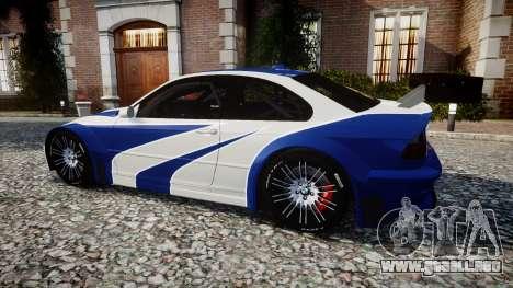 BMW M3 E46 GTR Most Wanted plate NFS para GTA 4 left