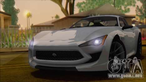 GTA 5 Lampadati Furore GT para GTA San Andreas vista posterior izquierda