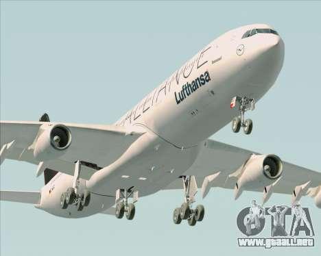 Airbus A340-300 Lufthansa (Star Alliance Livery) para el motor de GTA San Andreas