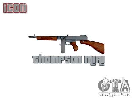 Subametralladora Thompson M1A1 tambor icon3 para GTA 4 tercera pantalla