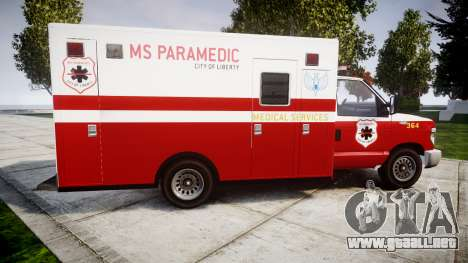 Brute V-240 Ambulance [ELS] para GTA 4 left