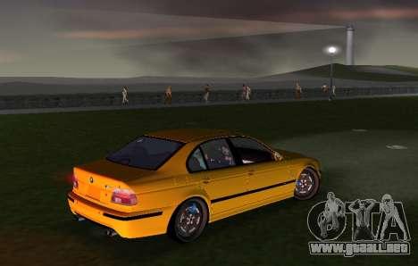 BMW M5 E39 para GTA Vice City vista posterior
