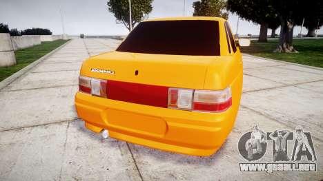 ВАЗ-2110 Bogdan rims1 para GTA 4 Vista posterior izquierda