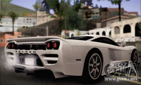Saleen S7 Twin Turbo para GTA San Andreas left