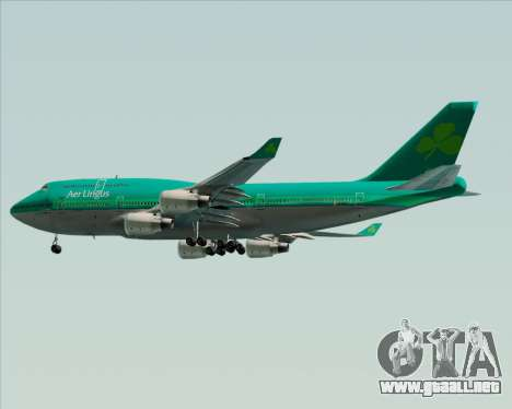 Boeing 747-400 Aer Lingus para visión interna GTA San Andreas