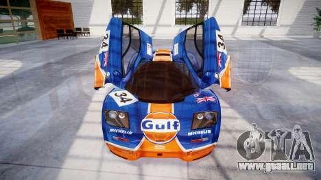 McLaren F1 1993 [EPM] Gulf 34 para GTA 4 vista desde abajo