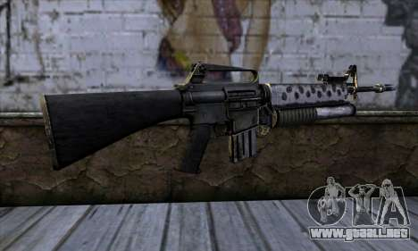 M4 from Call of Duty: Black Ops v2 para GTA San Andreas segunda pantalla