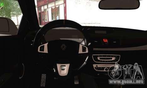 Renault Megane para GTA San Andreas vista posterior izquierda