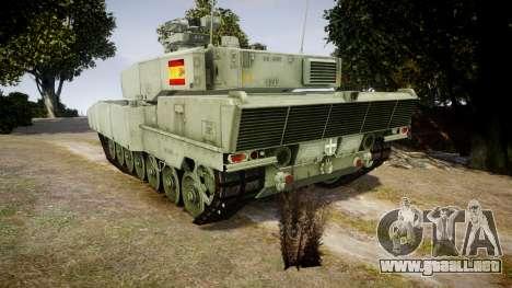 Leopard 2A7 ES Green para GTA 4 Vista posterior izquierda