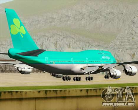 Boeing 747-400 Aer Lingus para vista lateral GTA San Andreas