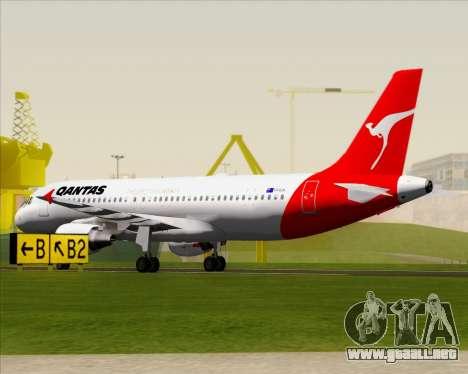 Airbus A320-200 Qantas para la vista superior GTA San Andreas