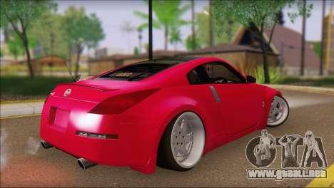 Nissan 350Z CAMBERGANG para GTA San Andreas left
