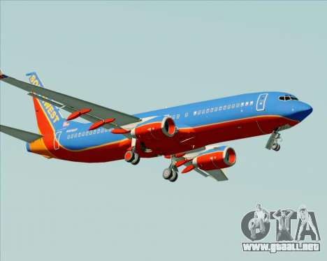 Boeing 737-800 Southwest Airlines para la vista superior GTA San Andreas