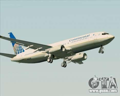 Boeing 737-800 Continental Airlines para la visión correcta GTA San Andreas