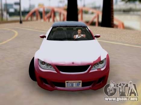 La superioridad de Sión convertible GTA V para GTA San Andreas vista posterior izquierda
