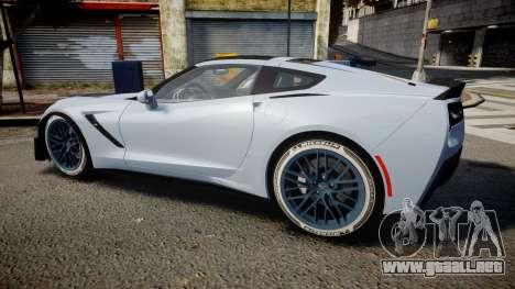Chevrolet Corvette Z06 2015 TireMi3 para GTA 4 left