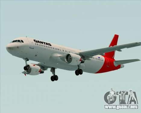 Airbus A320-200 Qantas para vista inferior GTA San Andreas