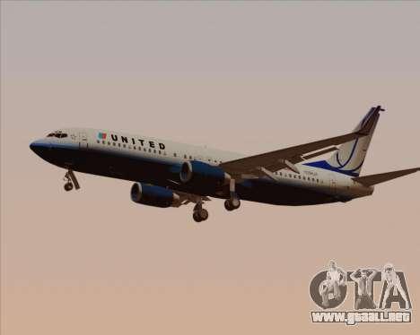 Boeing 737-800 United Airlines para GTA San Andreas interior