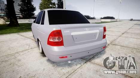 VAZ-2170 mejor para GTA 4 Vista posterior izquierda